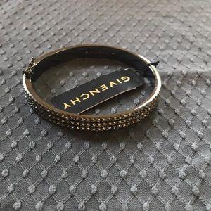 Givenchy gun metal and crystal bracelet